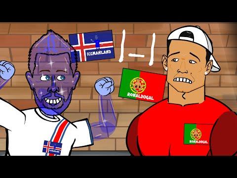 Portugal vs Iceland 1-1 (UEFA Euro 2016 Birkir Bjarnason goal and highlights)