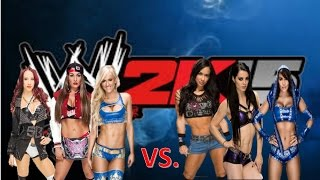 Sasha Banks & Summer Rae & Nikki Bella VS. Aj Lee & Paige & Layla I Wwe 2k15 I
