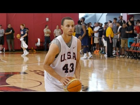 Warriors At Usa Basketball Training Camp video