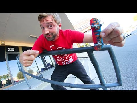 Fingerboarding ACTUAL REAL Street Spots!