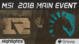 RNG vs TL Highlights Game 1 MSI 2018 Main Event Royal Never Give Up vs Team Liquid by Onivia