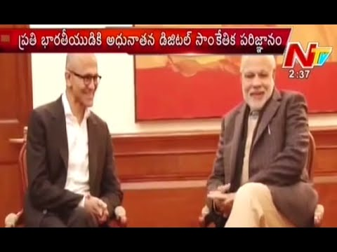 Microsoft CEO Satya Nadella Keen to Take up 'Digital India'
