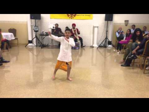 Humrazs First Solo Bhangra Performance - Vaisakhi 2013