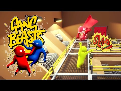 Gang Beasts - YOU'RE CRUSHING MY SPINE!!! [Father and Son Gameplay]