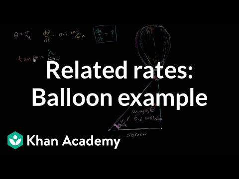 Rate of change of balloon height