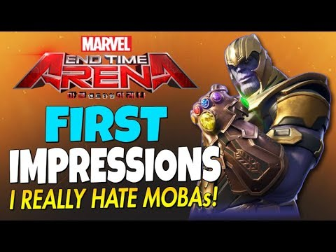 Marvel End Time Arena - Another MOBA Destined To Fail!... I Hate Mobas - (First Impressions)