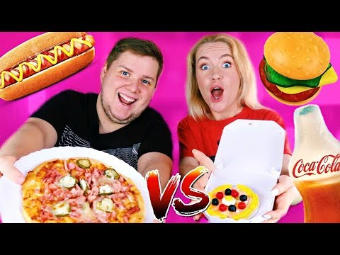 ОБЫЧНАЯ ЕДА против МАРМЕЛАДА ЧЕЛЛЕНДЖ Real Food vs Gummy Food МАРМЕЛАДНАЯ ЕДА против НАСТОЯЩАЯ еда