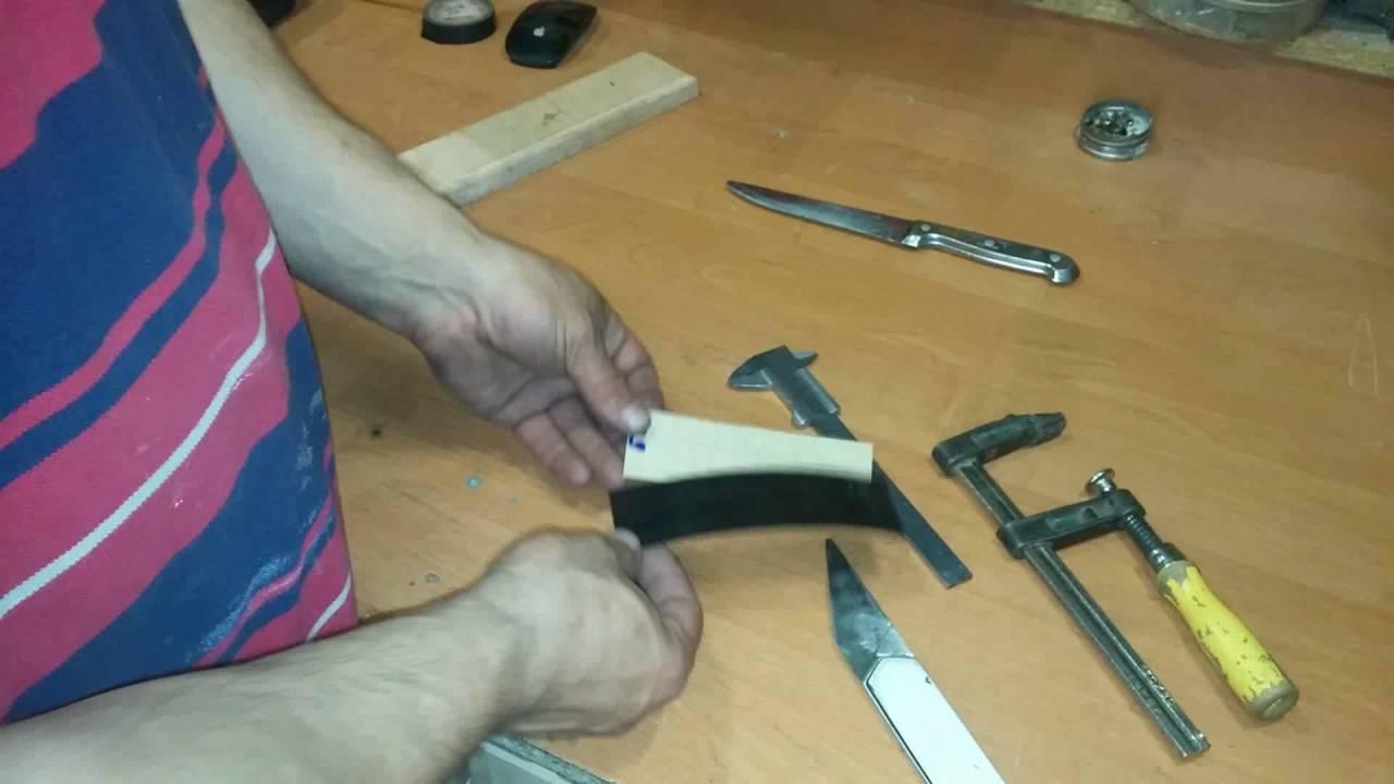 Ручка для ножа своими руками ютуб 3