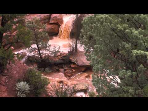 Seven Sacred Pools, Sedona, AZ after heavy rains
