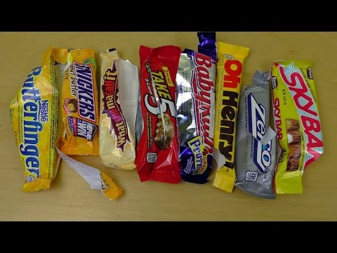 American Candy Bar Battle   9 Bars Variety Review
