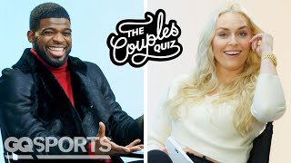P.K. Subban Gets Asked 40 Questions by Lindsey Vonn | Couples Quiz | GQ Sports