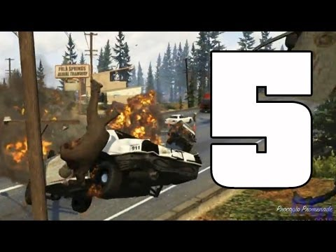 GTA V | Accidentes de tráfico a cámara lenta | EPIC FAILS 5