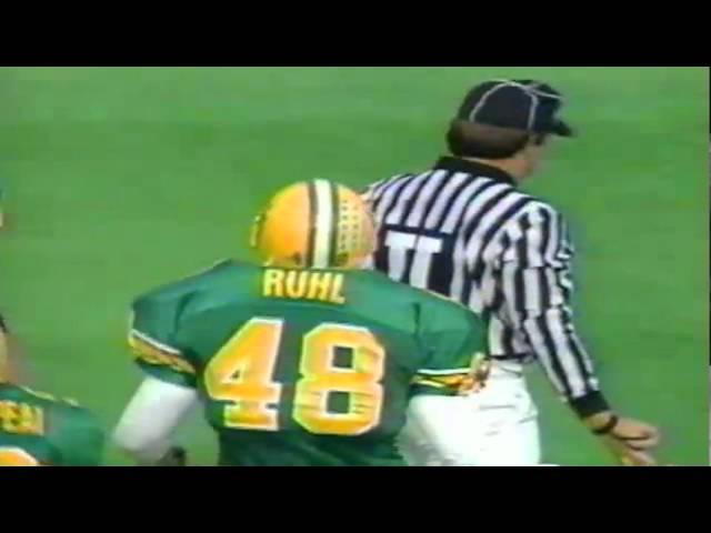 Oregon LB Rich Ruhl sacks ASU QB Jake Plummer 11-05-1994