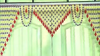 DIY - HOW TO MAKE TORAN FROM CRYSTAL MOTI & STONE AT HOME |