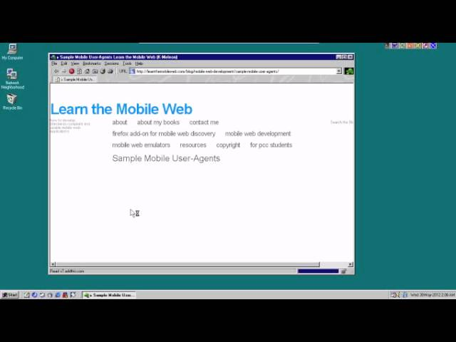 "Retro: Change User Agent To ""Fool"" Web Sites You're On Mobile"