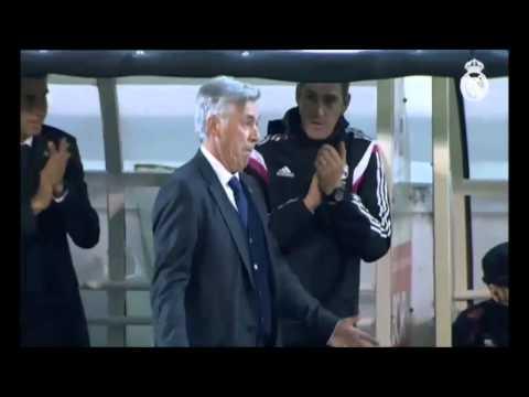 Carlo Ancelotti Imitates Cristiano Ronaldo   SD Eibar vs Real Madrid   La Liga 22/11/2014