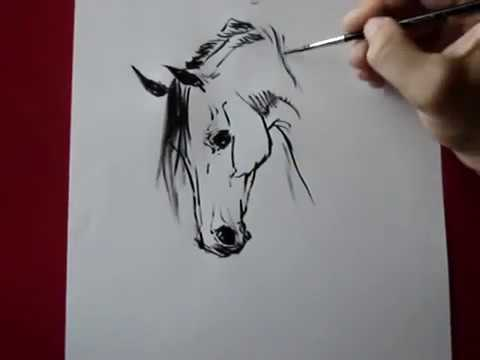 Видео как нарисовать сидящую лошадь