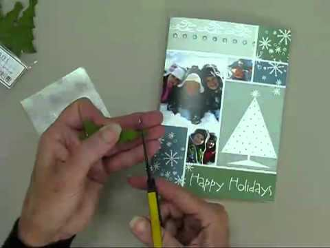 Holiday Card Accents - Snowflake Tree Collage