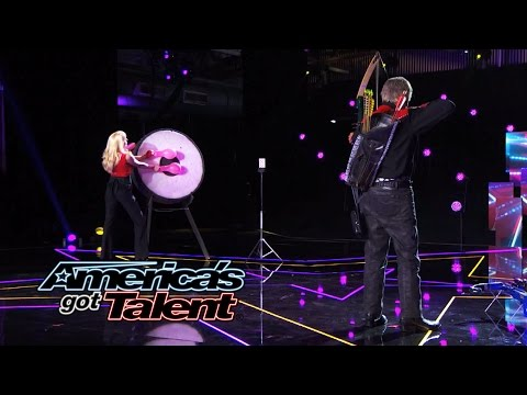 Bob Markworth & Mayana: 77-Year Old Pro Archer Misses - America's Got Talent 2014