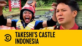 Indonesian Usain Bolt Stuns With Fastest Stepping Stone Run | Takeshi's Castle Indonesia