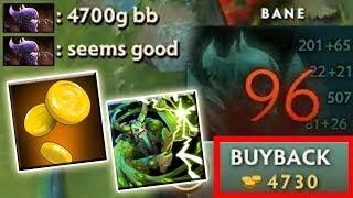 73k Net Worth Advantage [Wrath of Nature + Greevil's Greed] 4700 Gold Buyback   Dota 2 Ability Draft