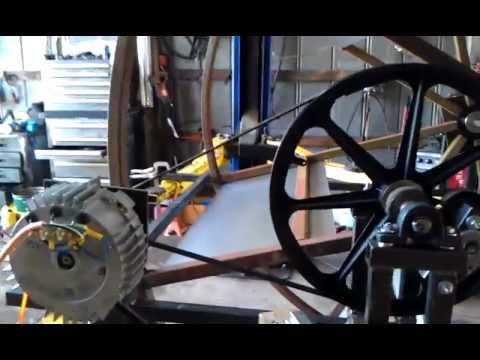 Water wheel PMA power generator - YouTube