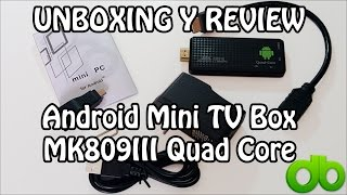 Android Mini TV Box MK809III Android 4.4 8GB Quad Core 1,8ghz 2GB RAM Bluetooth - Unboxing y Review