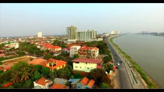 Phnom Penh Cambodia, View From the Air With Drone Camera