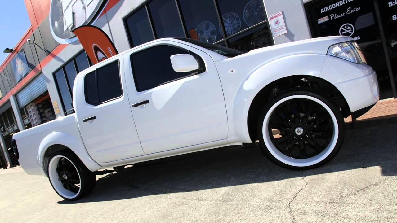 Nissan D40 Navara 24 Inch Custom Rims Painted Lexani Lss10