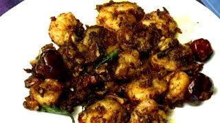 recipes in tamil How to make Chettinad Prawn Pepper Fry - Red pix Good Life