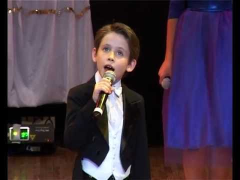Time to Say Goodbye (Andrea Bocelli)-8-year-old Oleg Alexandrov  and vocal ensemble