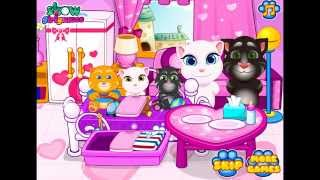 Tom Angela Cat Makeup Baby Room (Games4kids)