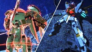 Gundam Breaker 3 Horse Gundam Gameplay / Boss Battle (PS4 / PS Vita)
