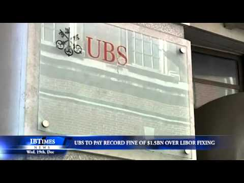 UBS to pay record fine of $1.5 billion over libor fixing
