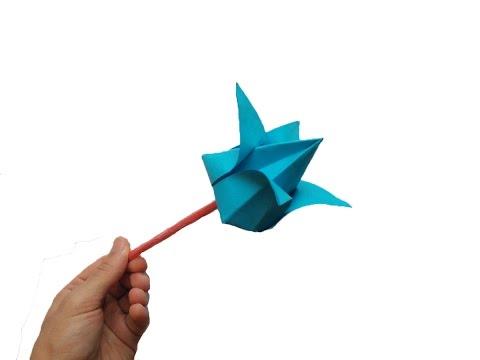 Kağıttan çiçek yapımı - Origami çiçek nasıl yapılır