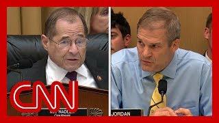 Nadler shuts down Jordan during hearing: I'm speaking