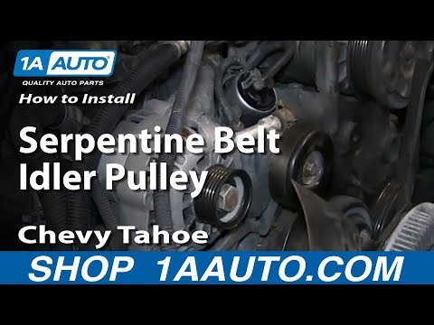 How To Install Replace Serpentine Belt Idler Pulley 1996-99 Chevy Tahoe 5.7L