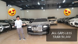USED LUXURY CAR WAREHOUSE IN DUBAI!! ALL CARS LESS THAN 50 LAKHS