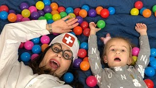 Kids play in different games with Funny DOCTOR Pretend Play with  JoyJoy Lika