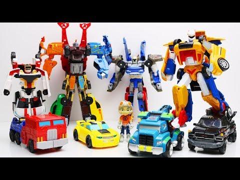 Tobot Robot Adventure vs Athlon! Transformers Stop Motion IronHide, Tritan Mainan Car Kids Toys