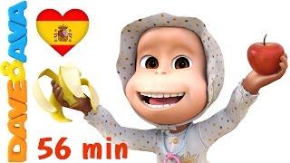 🍏 🍌 Manzanas y Bananas | Canciones Infantiles y Canciones para Bebés de Dave y Ava