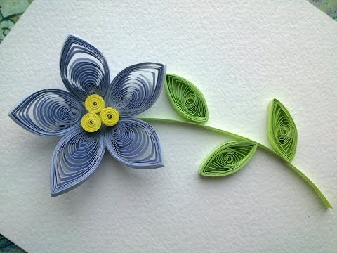 Quilling Flowers Tutorial make a beautiful Quilling flower. Paper art Quilling.