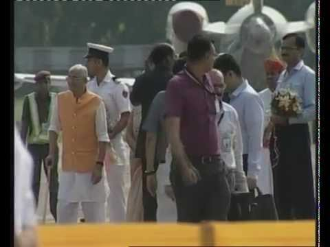 PM ARRIVES IN AHMEDABAD