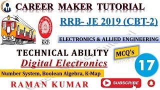 RRB-JE(CBT-2) TECHNICAL ABILITY COURSE- 17-DIGITAL ELECTRONICS PART-8   FOR ELECTRONICS  