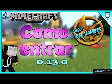 Como entrar a los Juegos del Hambre en Minecraft PE 0.13.0