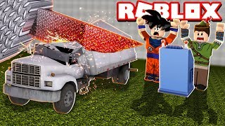 QUEBRANDO CAMINHÕES NO ROBLOX!! (Car Crushers 2)