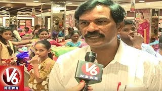 Heavy Rush In City Malls With Bathukamma and Dusserha Festivals Shopping | Hyderabad