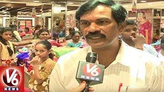 Heavy Rush In City Malls With Bathukamma and Dusserha Festivals Shopping - Hyderabad  - netivaarthalu.com