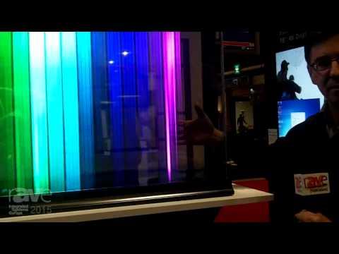 ISE 2015: Planar Details 55″ Transparent OLED Display