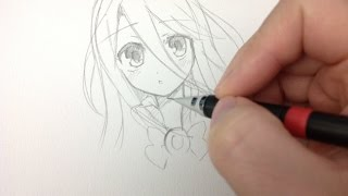 Drawing shiro no game no life (real time drawing) 💚💖